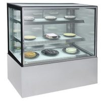 Bromic Square Glass Cake Display w/LED Lighting - 900mm FD0900