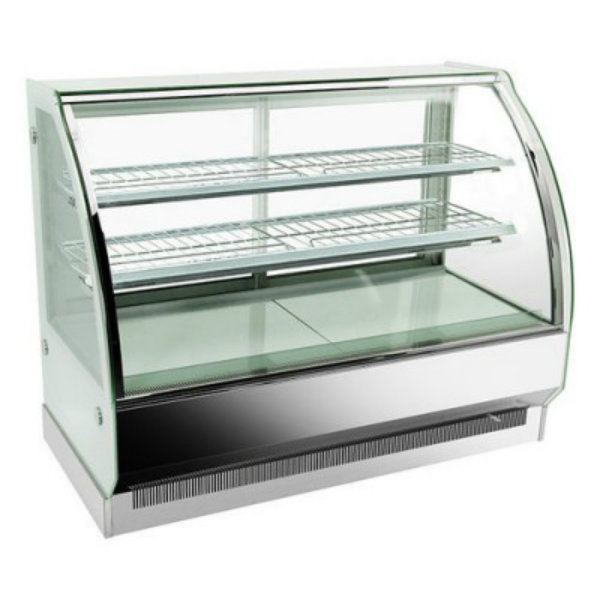 Bonvue Chilled Curved Glass Stainless Steel 3 Levels Food Display CS-900S2
