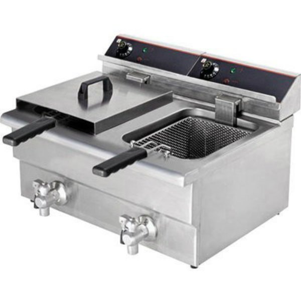 F.E.D. Double Benchtop Electric Fryer BEF-172V