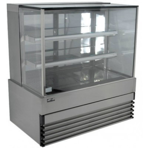 Koldtech Square Glass Refrigerated Cake Display 4 Fixed Shelves - 1500mm KT.SQRCD.15.4T