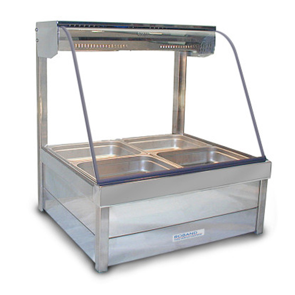 Roband Curved Glass Two Bay Hot Food Display