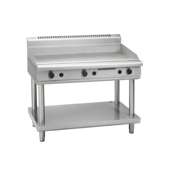 Waldorf 1200mm Wide Gas Griddle Hotplate on Leg Stand