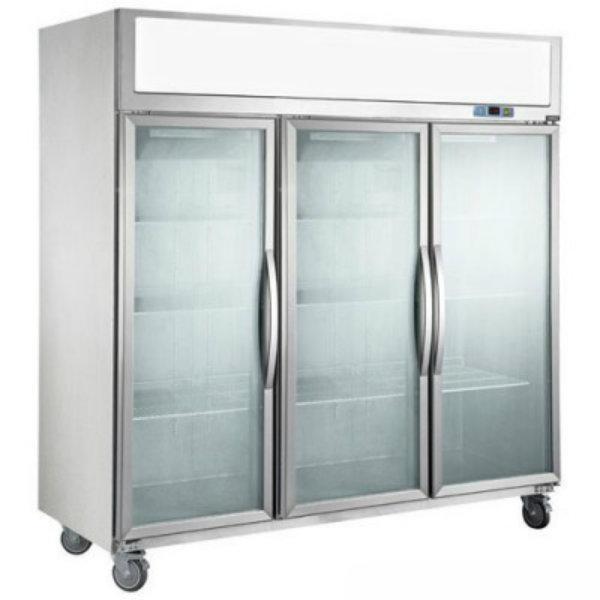 F.E.D. Three Door Upright Display Freezer- 1500 Litre SUFG1500